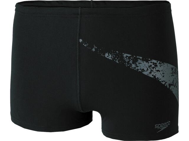speedo Boomstar Placement Short de bain Homme, black/oxid grey